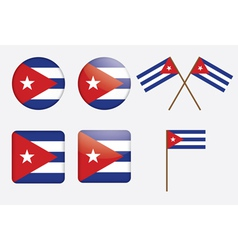 Badges with flag of cuba vector