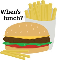 Whens lunch vector