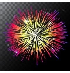 Isolated colorful fireworks on a vector