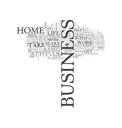 are you right for a home based business text word vector image