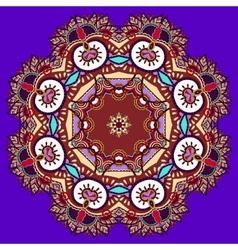 Beautiful vintage violet colour circular pattern vector