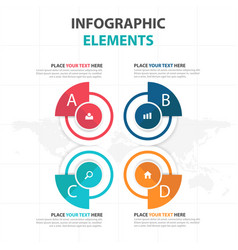 colorful circle business infographics elements vector image vector image