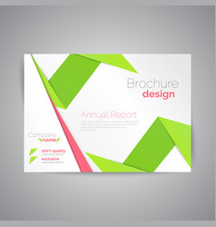 Commercial annual report template abstract vector