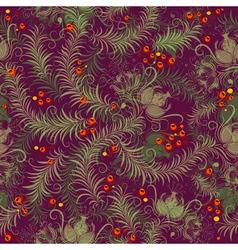 dark purple seamless floral pattern vector image
