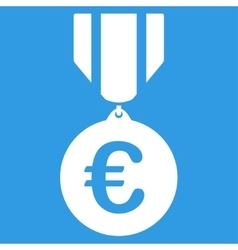 Euro honor medal icon vector