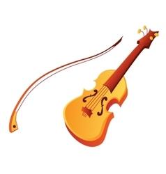 Funny cartoon violin vector