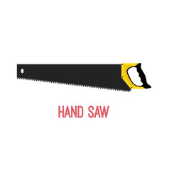 hand saw work tool carpentry instrument vector image