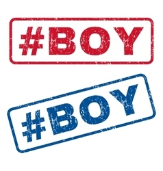 Hashtag boy rubber stamps vector