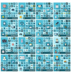 Large icons set vector image