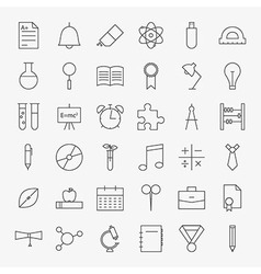 Line School and Education Icons Big Set vector image
