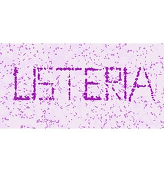 listeria microorganism letters vector image vector image