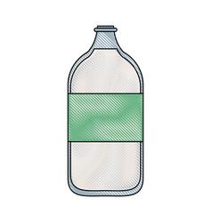 milk glass bottle vector image