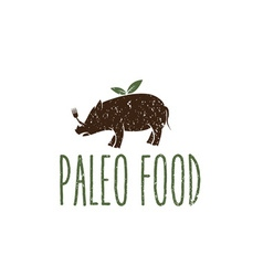 Paleo food hog design template vector