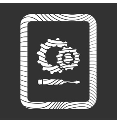 Phone with gear and screwdriver development icon vector