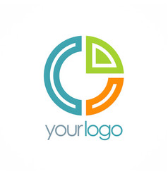 round diagram colored logo vector image