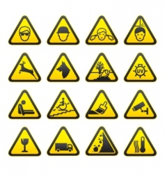safety sign set vector image