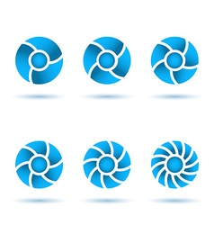 Six segmented circles vector