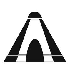 Tepee icon simple style vector