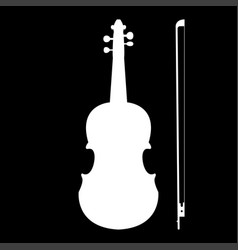 violin the white color icon vector image vector image