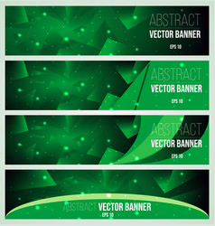 Web banner flyer and cover with green triangle vector