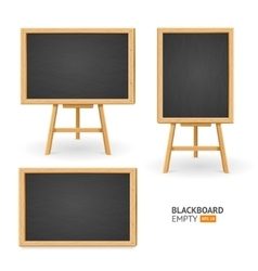 Black board set different view vector
