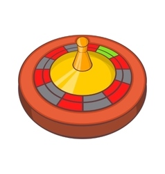 Roulette in casino icon cartoon style vector