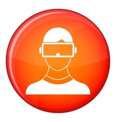Virtual 3d reality goggles icon flat style vector