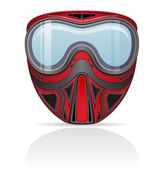 Paintball mask 01 vector