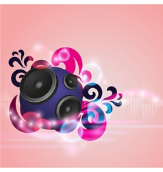 Abstract music background with round speaker vector image