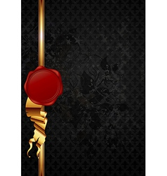 ornate frame with wax seal vector image