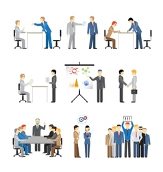 Business peoples in different poses vector