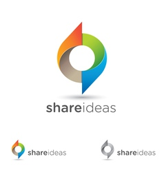 Share ideas vector image