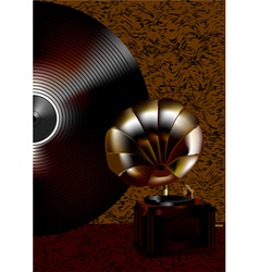 Gramophone and disk vector