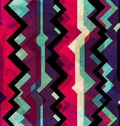 Abstract totem seamless pattern with grunge effect vector