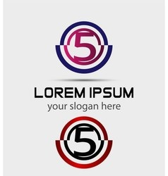 Number five logo logo 5 template vector