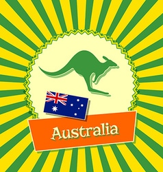 Australian badge vector image