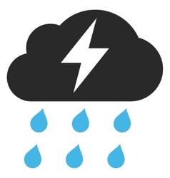 Thunderstorm flat pictogram vector
