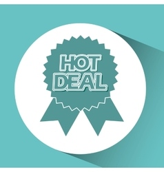Hot deals design vector
