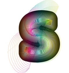 Abstract colorful letter s vector