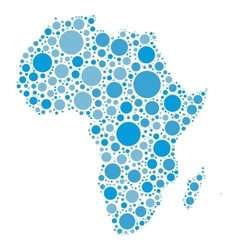 Africa map mosaic of blue dots vector image vector image