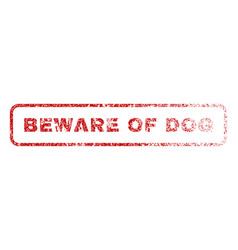 Beware of dog rubber stamp vector