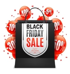 Black Friday Sale Bag vector image