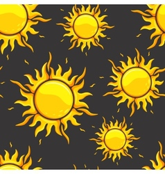 Bright orange suns in dark space vector