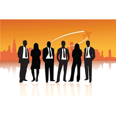 Businessmen and women vector image vector image