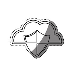 Cloud shield security vector