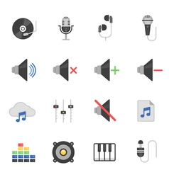 Color icon set - audio vector image vector image