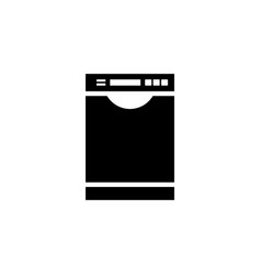 dishwasher icon vector image vector image