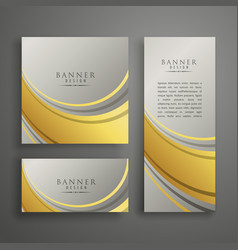 Elegant abstract premium card or banner design in vector