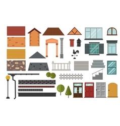 Family house design elemets vector image