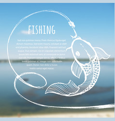 Fishing blurred photo background vector